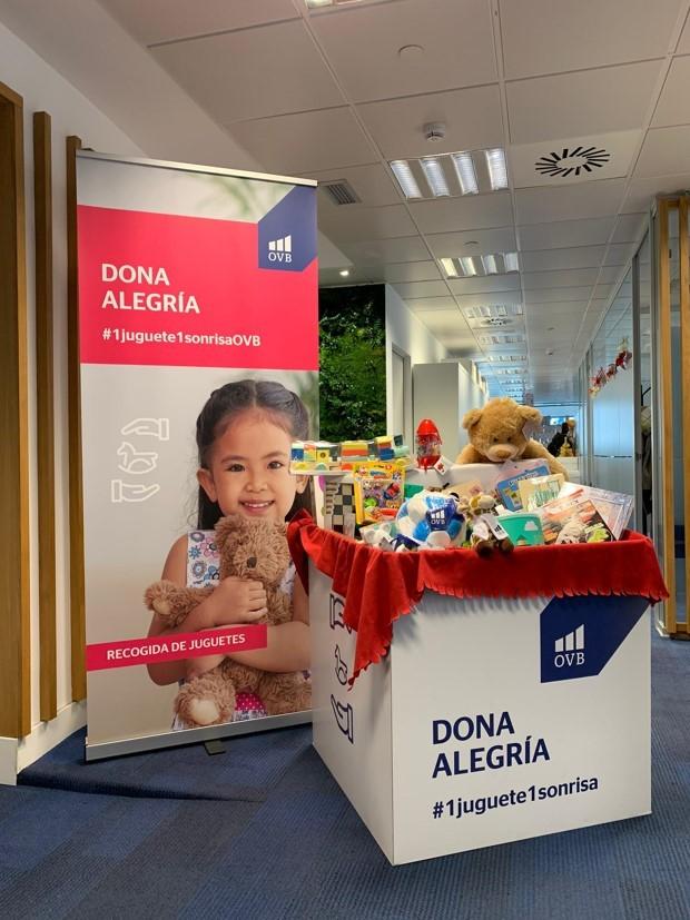 Más de 600 juguetes recogidos en las oficinas de OVB Allfinanz España